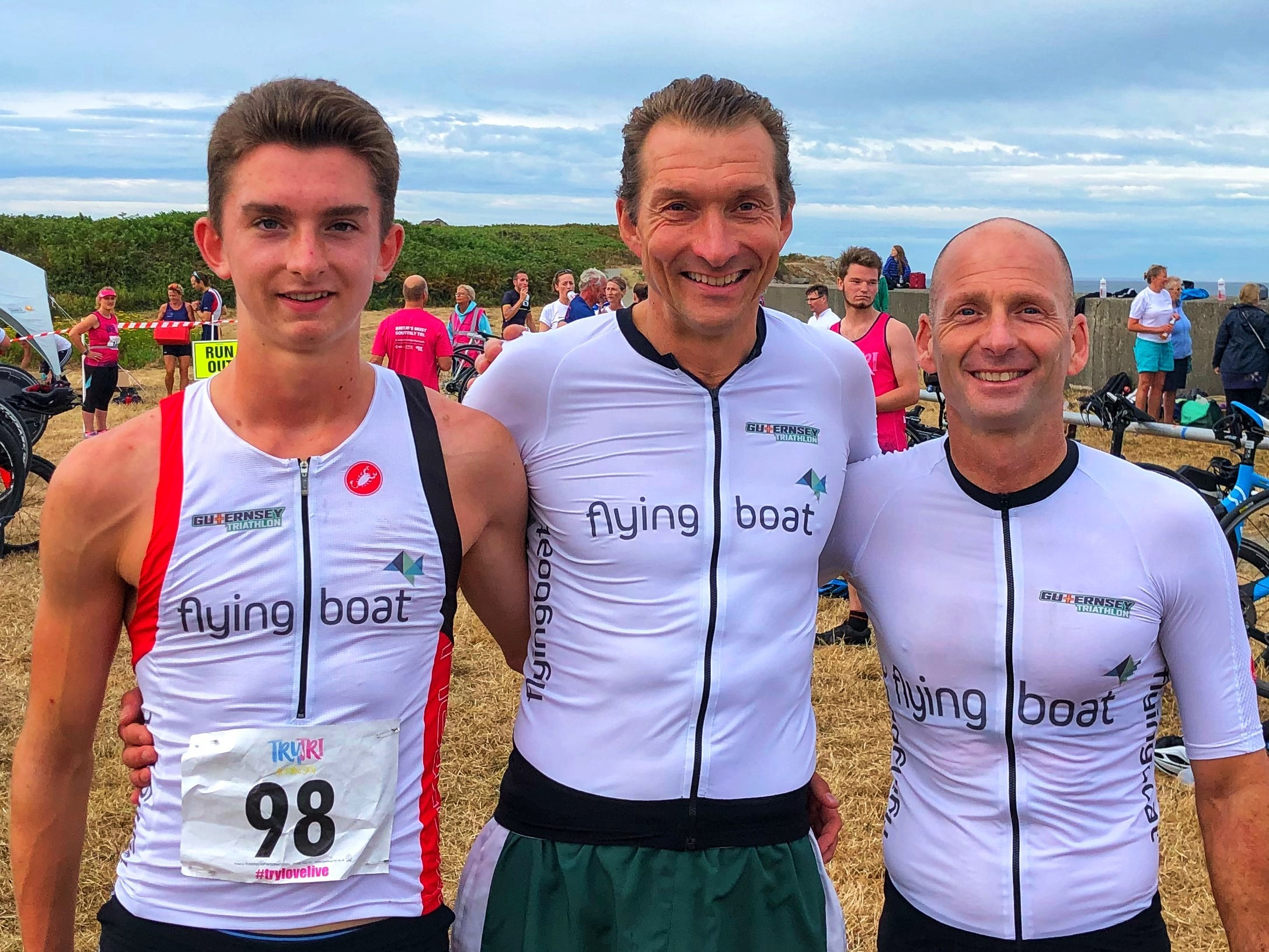 The Flyingboat Team placed 3rd in the Guernsey Triathlon Corporate Team Relay